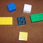 Six blank blocks: a plastic Nun, waiting for Ptah's creative urge!