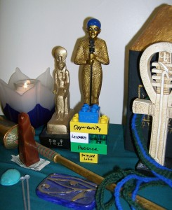My Ptah Heka sitting on Ptah's altar.