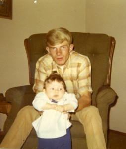 Dad and me, in 1969 or 1970.